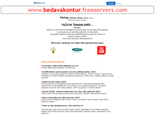 bedavakontur.freeservers.com screenshot