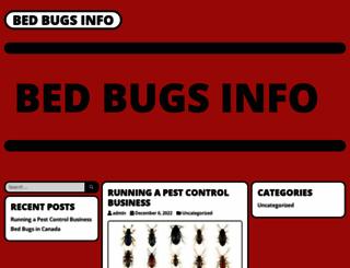 bedbugsinfo.ca screenshot