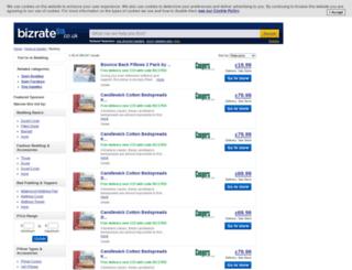 bedding.bizrate.co.uk screenshot