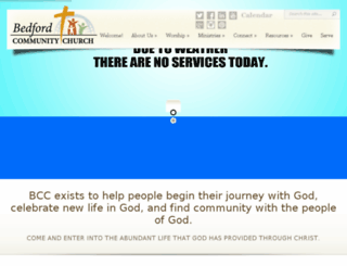 bedford-community-church.org screenshot