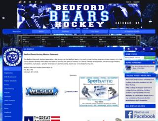 bedfordbearshockey.com screenshot