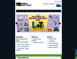 bedfordlibrary.org screenshot