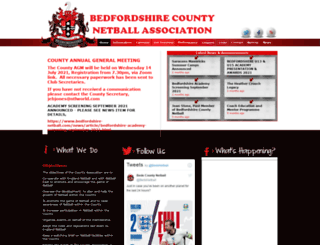 bedfordshire-netball.com screenshot
