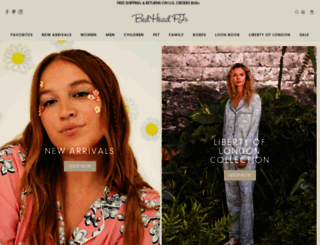 bedheadpjs.com screenshot