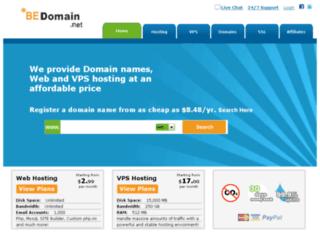 bedomain.net screenshot