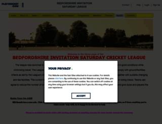 bedsisl.play-cricket.com screenshot