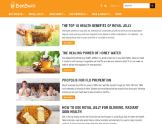 bee-pollen-buzz.com screenshot