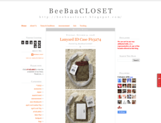 beebaacloset.blogspot.com screenshot