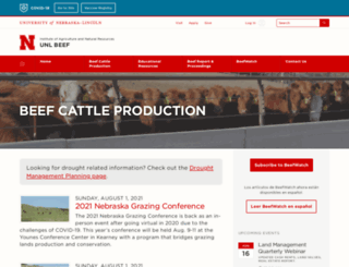 beef.unl.edu screenshot