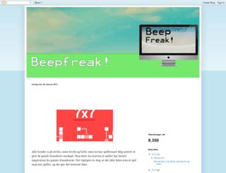 beepfreak.blogspot.dk screenshot