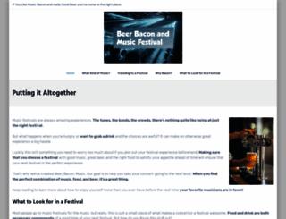 beerbaconmusic.com screenshot