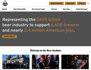 beerinstitute.org screenshot