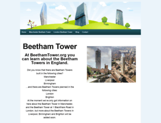 beethamtower.org screenshot