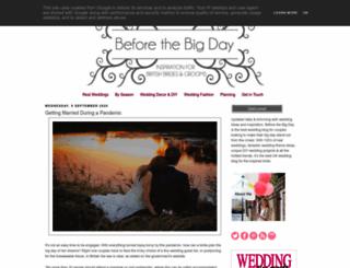 beforethebigday.blogspot.com screenshot