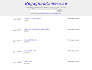 begagnadkamera.se screenshot