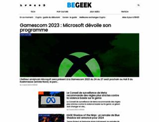 begeek.fr screenshot