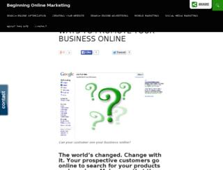 beginningonlinemarketing.com screenshot