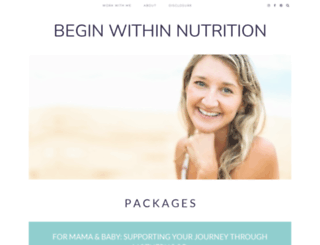beginwithinnutrition.com screenshot