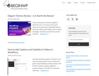 beginwp.com screenshot