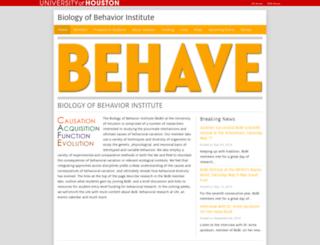 behave.uh.edu screenshot