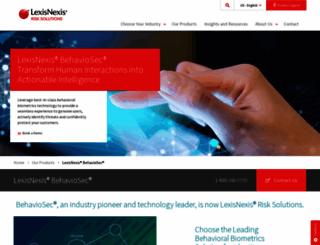 behaviosec.com screenshot