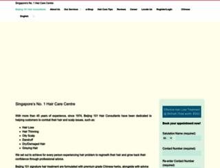 beijing101hair.com screenshot