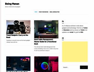 beingmanan.com screenshot