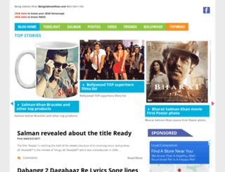 beingsalmankhan.com screenshot