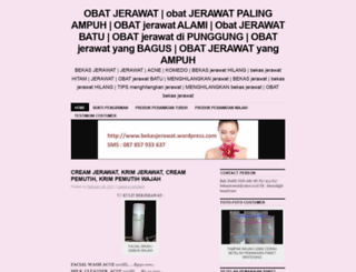 bekasjerawat.wordpress.com screenshot