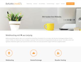 bekawe-hosting.de screenshot