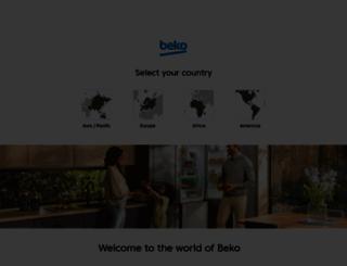 beko.com screenshot