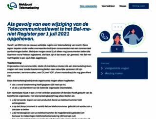 bel-me-niet.nl screenshot