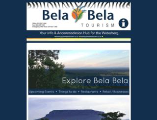 belabelatourism.co.za screenshot