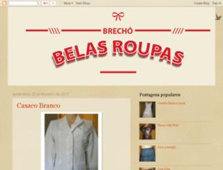 belasroupasbrecho.com screenshot