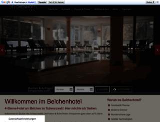 belchenhotel.de screenshot