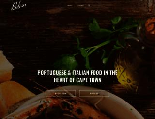 belezarestaurant.co.za screenshot