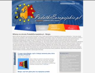 belgia.podatkieuropejskie.pl screenshot