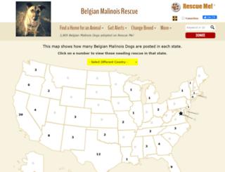 belgianmalinois.rescueme.org screenshot