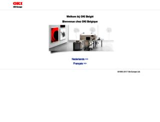 belgium.oki.com screenshot
