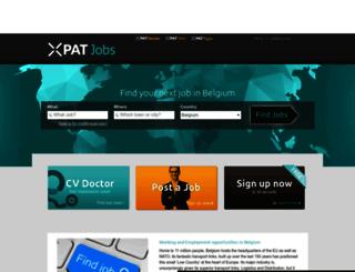 belgium.xpatjobs.com screenshot