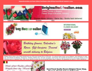 belgiumfloristonline.com screenshot