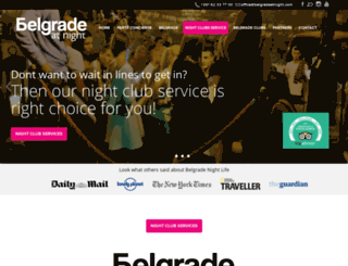 belgradeatnight.com screenshot