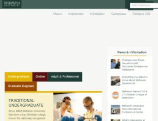 belhaven.edu screenshot