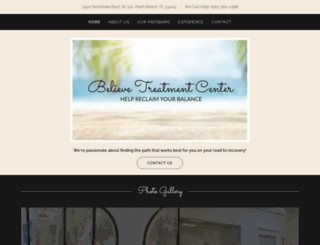believetreatmentcenter.com screenshot