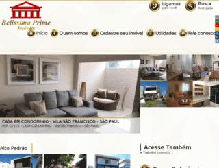 belissimaprime.com.br screenshot