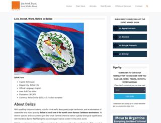 belize.escapeartist.com screenshot