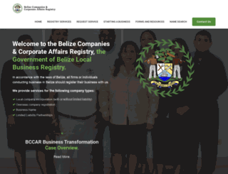 belizecompaniesregistry.gov.bz screenshot