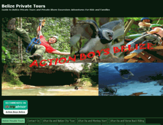 belizeprivatetours.actionboysbelize.com screenshot