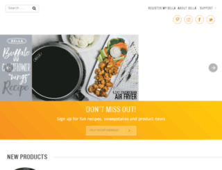 bellaappliances.com screenshot