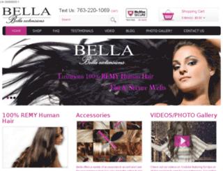 bellaextensions.com screenshot